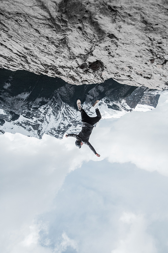 Man Falling from Mountain