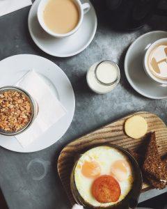 eggs and oatmeal breakfast