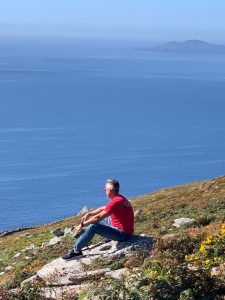 Dr. Jay LaGuardia Overlooking Cliff in Ireland