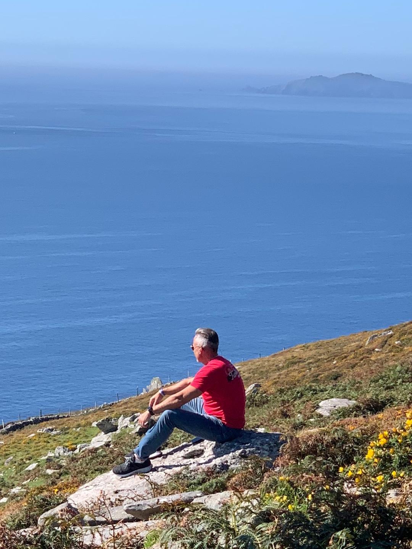 Dr. Jay LaGuardia Overlooking Cliff in Ireland
