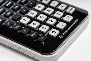 Black and white Buttoned Calculator