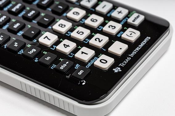 Black and white Buttoned Calculator