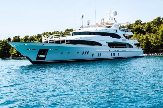 Luxury Yacht Anchored