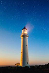 Lighthouse and Night Sky