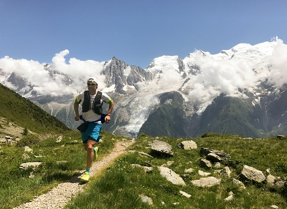 Man Running in Mountains