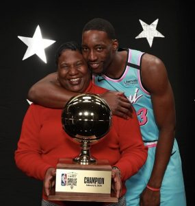 Bam Adebayo and His Mom