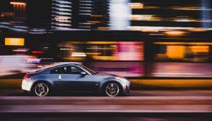 Speeding Car Blurred Lights