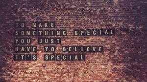 Brick Wall With Words On It