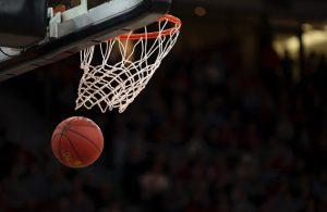 Basketball Going Thru Basket