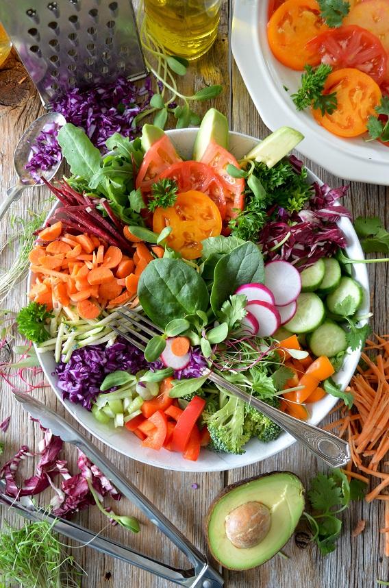 Big Bright Bowl of Salad and Veggies